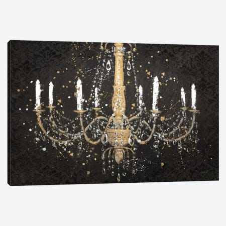 Grand Chandelier Black I Canvas Print #WAC3710} by James Wiens Canvas Wall Art