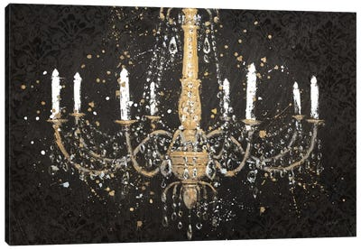 Grand Chandelier Black I by James Wiens Canvas Wall Art