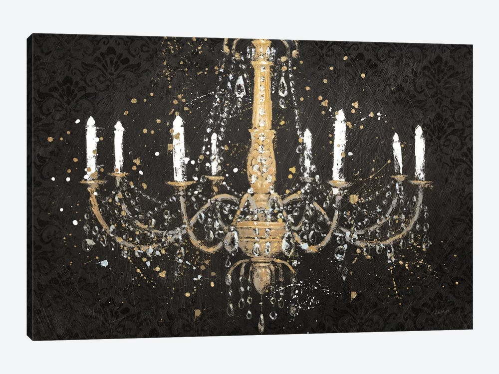 Grand Chandelier Black I by James Wiens 1-piece Canvas Art