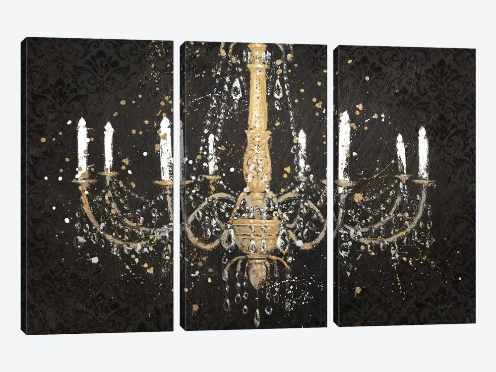 Grand Chandelier Black I by James Wiens 3-piece Canvas Artwork