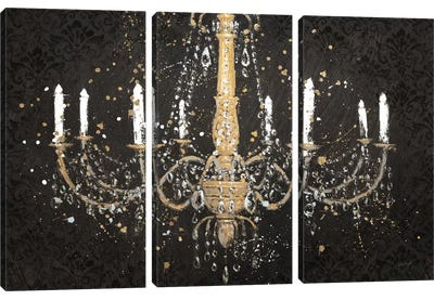 Grand Chandelier Black I Canvas Art Print