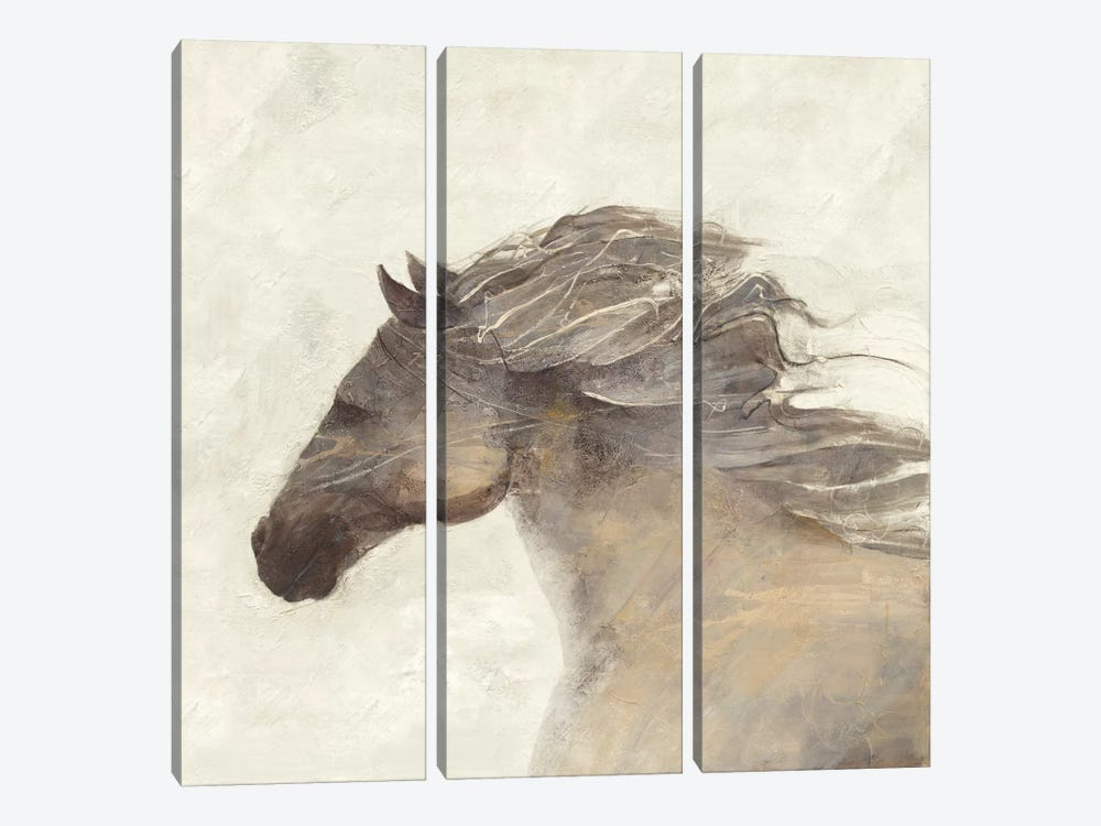 Into The Wind Ivory 3-piece Canvas Print