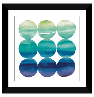 Summer Dots III Framed Art Print