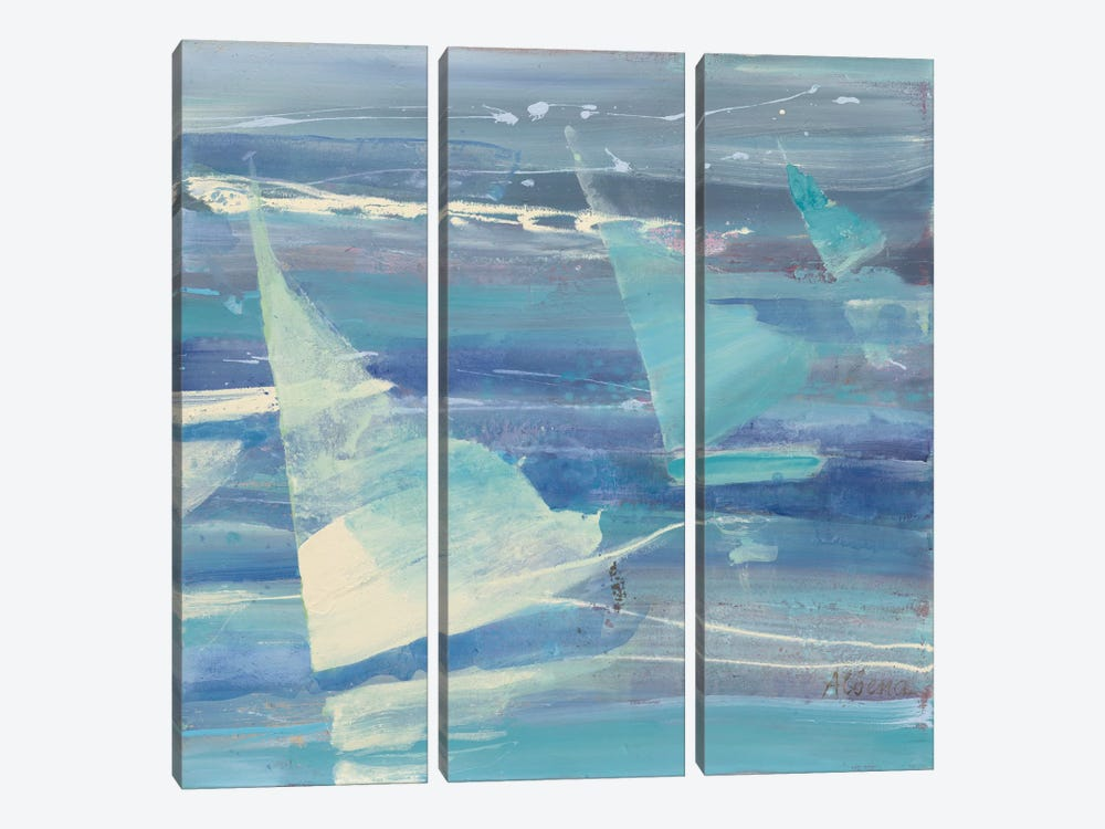Summer Sail II by Albena Hristova 3-piece Canvas Artwork