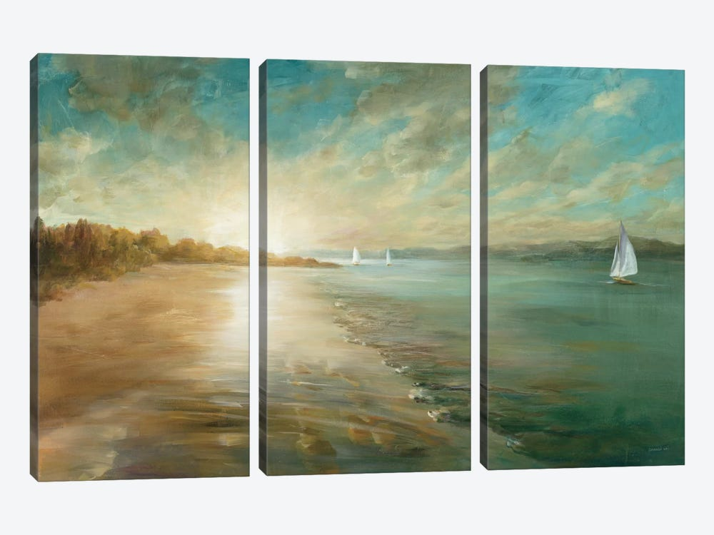 Coastal Glow by Danhui Nai 3-piece Canvas Artwork