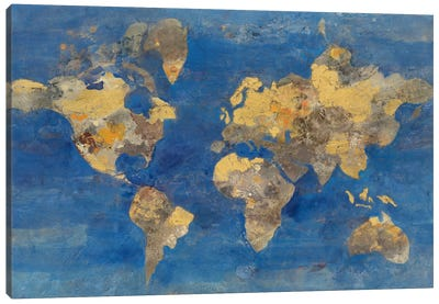 Golden World Canvas Print #WAC3731
