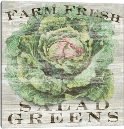 Farm Fresh Greens Canvas Art Print