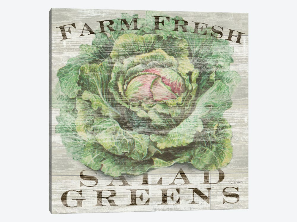 Farm Fresh Greens by Sue Schlabach 1-piece Canvas Art