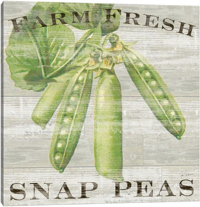 Farm Fresh Peas Canvas Art Print