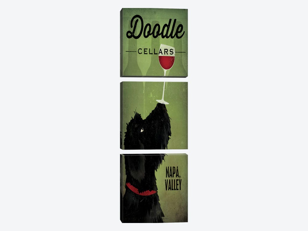 Doodle Cellars by Ryan Fowler 3-piece Art Print