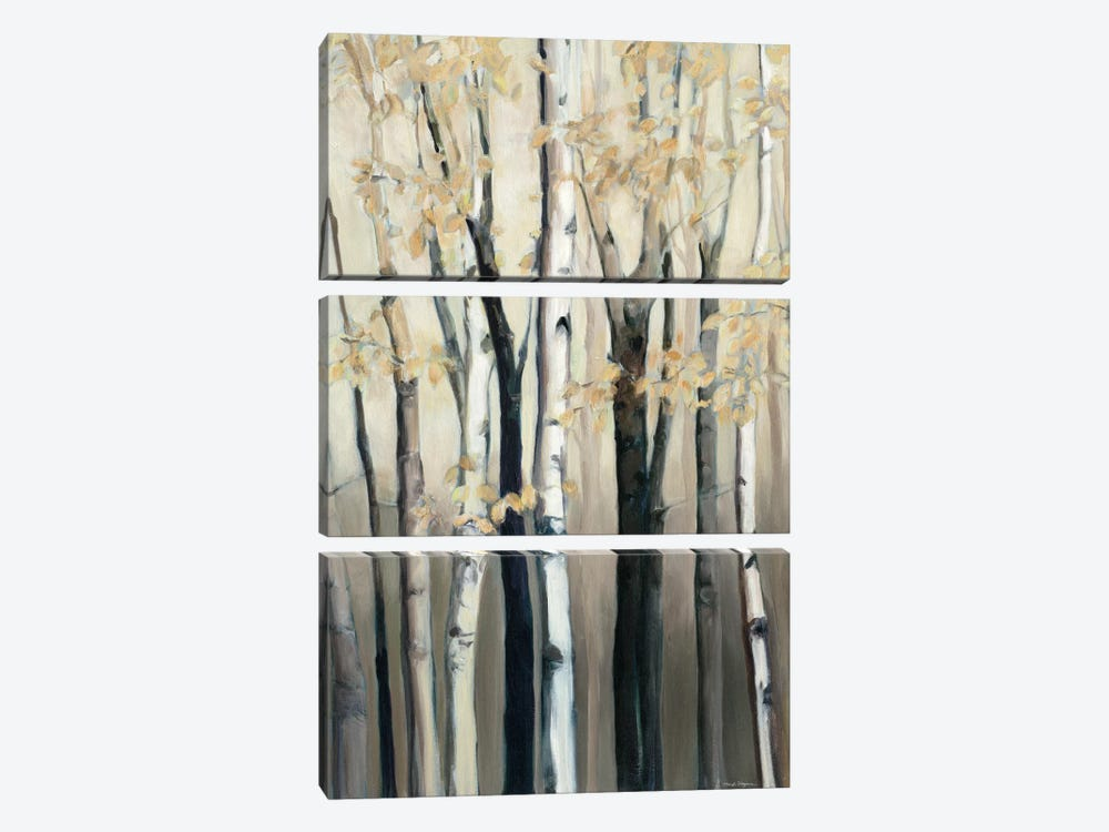 Golden Birch I by Marilyn Hageman 3-piece Canvas Art Print