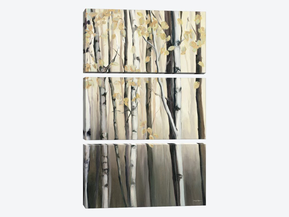 Golden Birch II by Marilyn Hageman 3-piece Canvas Artwork