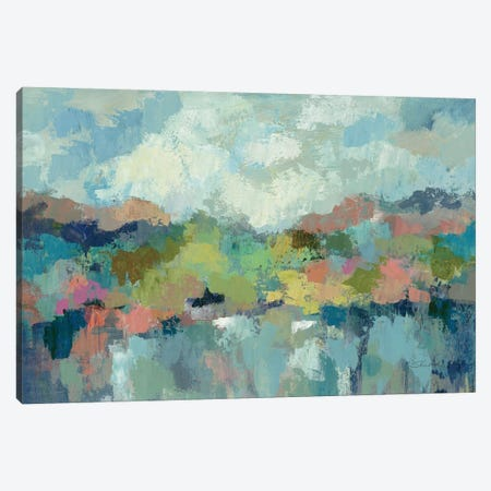 Abstract Lakeside Canvas Print #WAC3756} by Silvia Vassileva Art Print