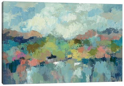 Abstract Lakeside Canvas Art Print