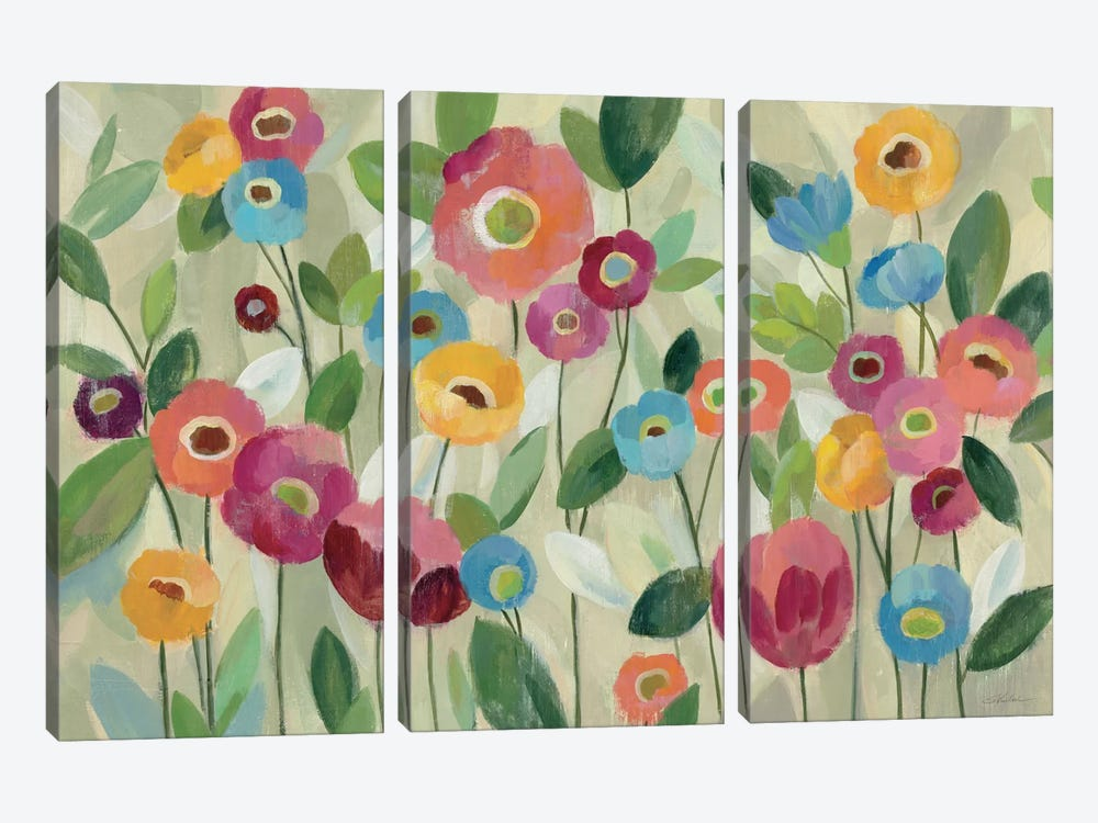 Fairy Tale Flowers V by Silvia Vassileva 3-piece Canvas Print