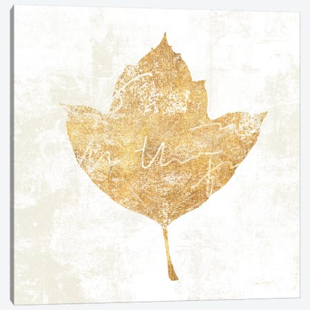 Bronzed Leaf I Canvas Print #WAC3759} by Sue Schlabach Canvas Art