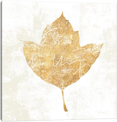 Bronzed Leaf I Canvas Art Print