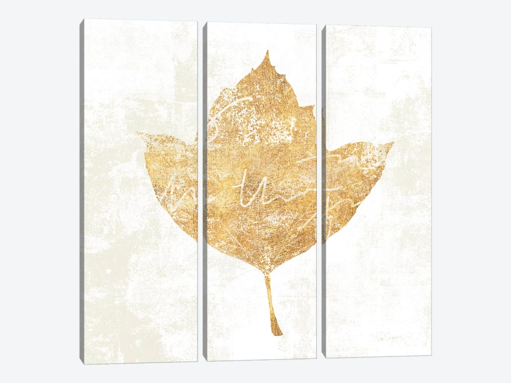 Bronzed Leaf I by Sue Schlabach 3-piece Canvas Art Print