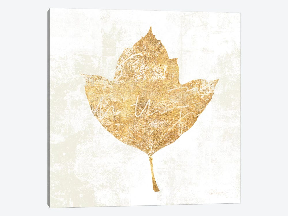 Bronzed Leaf I by Sue Schlabach 1-piece Canvas Print