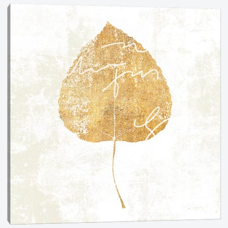 Bronzed Leaf II Canvas Print #WAC3760} by Sue Schlabach Art Print
