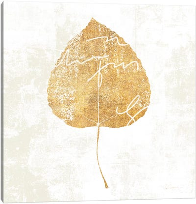 Bronzed Leaf II Canvas Art Print