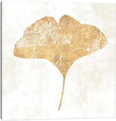 Bronzed Leaf III Canvas Art Print