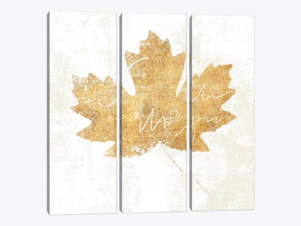 Bronzed Leaf IV by Sue Schlabach 3-piece Canvas Print