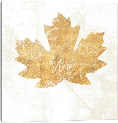Bronzed Leaf IV Canvas Art Print