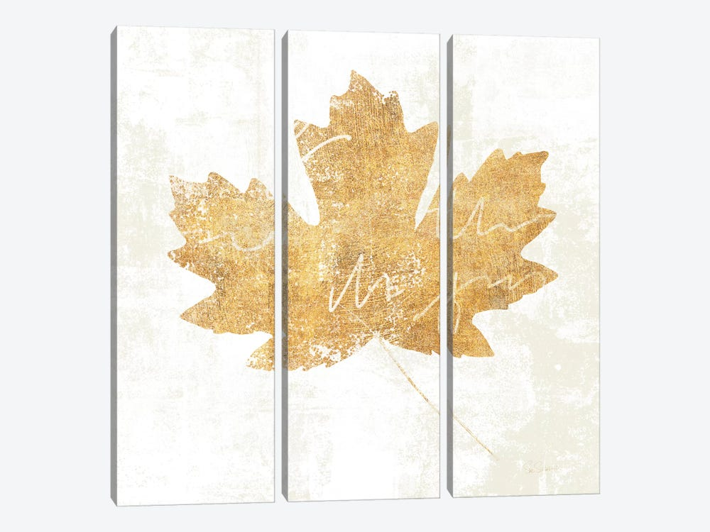 Bronzed Leaf IV by Sue Schlabach 3-piece Canvas Print