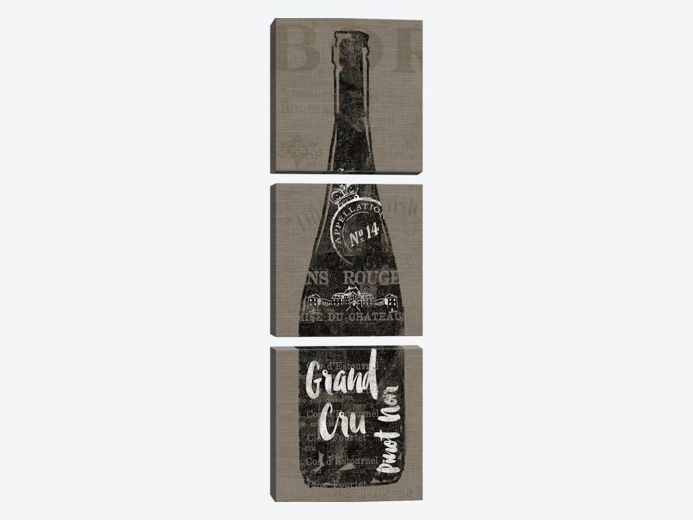 Linen Wine I by Sue Schlabach 3-piece Canvas Art