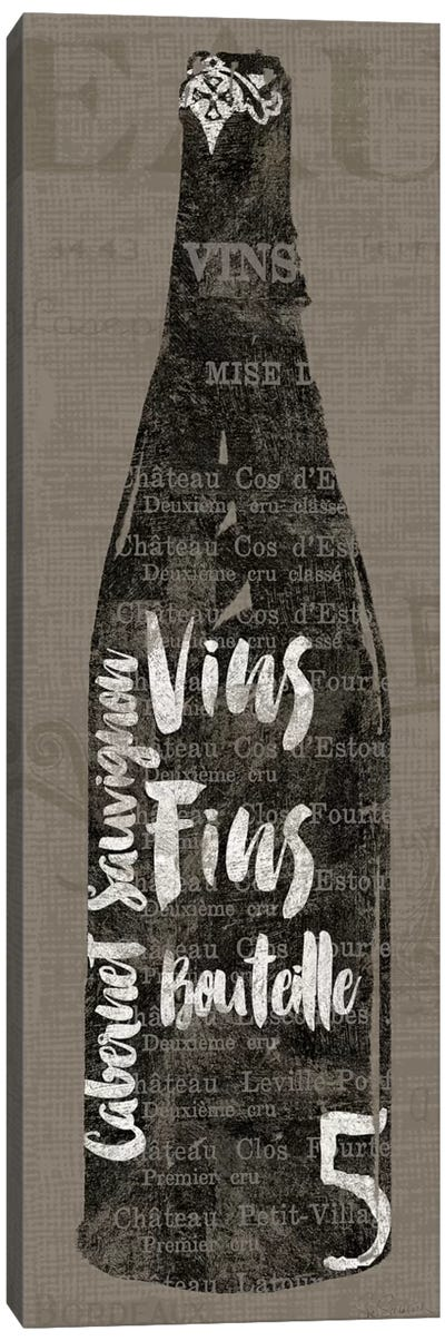 Linen Wine II Canvas Print #WAC3764