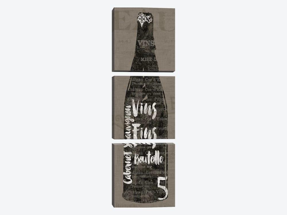 Linen Wine II by Sue Schlabach 3-piece Art Print