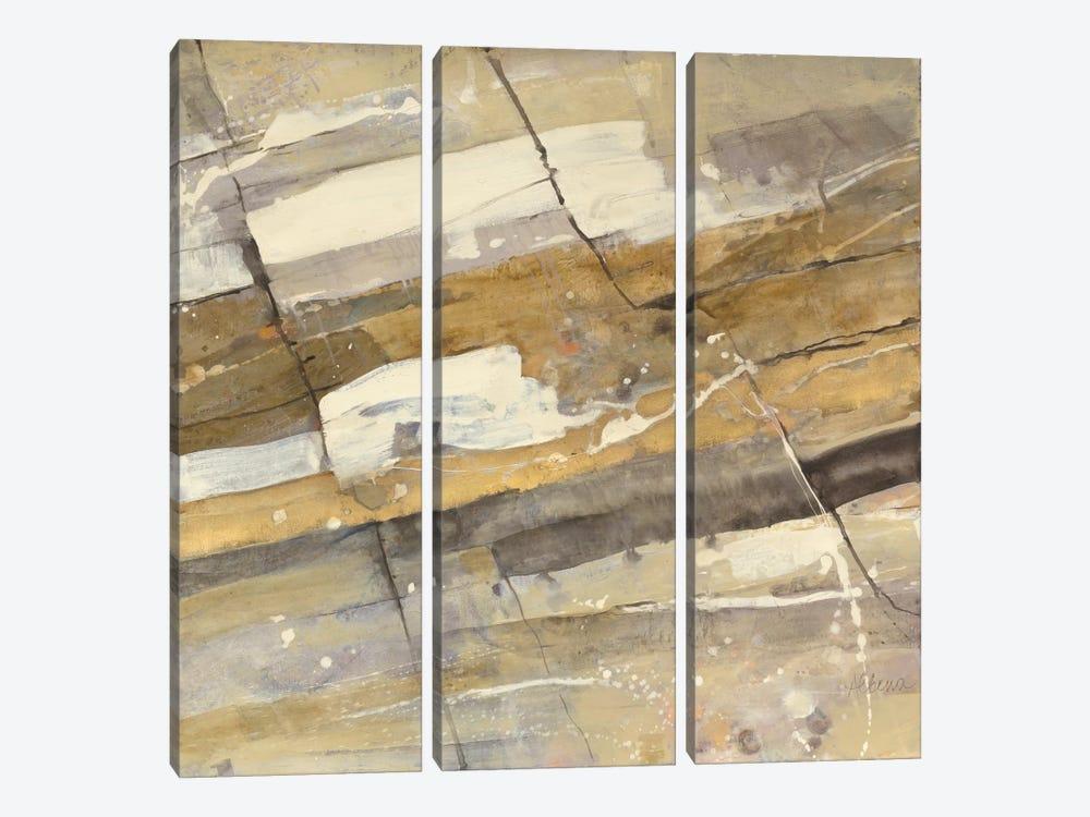 Gold Streak by Albena Hristova 3-piece Canvas Art Print