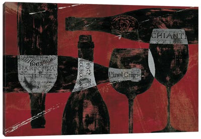 Wine Selection III Red Canvas Print #WAC377