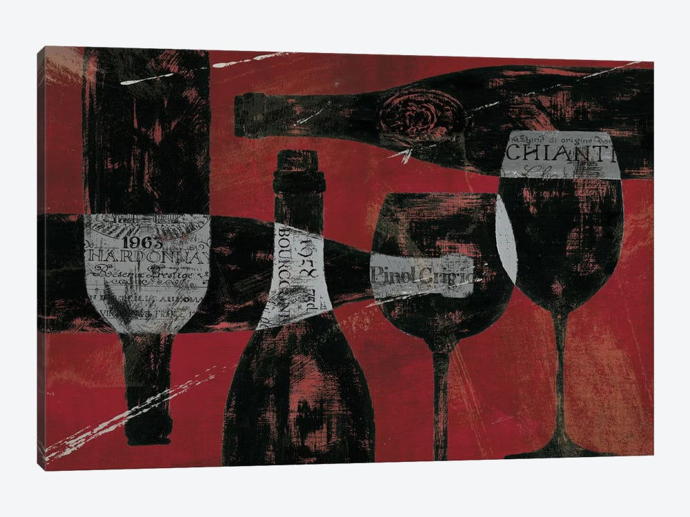 Wine Selection III Red 1-piece Canvas Art
