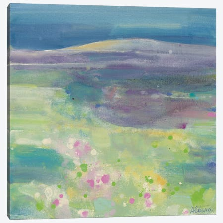 Lavender Fields Canvas Print #WAC3781} by Albena Hristova Canvas Art Print
