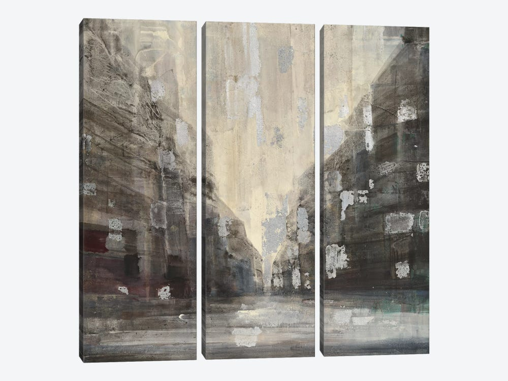 Silver City by Albena Hristova 3-piece Canvas Art Print