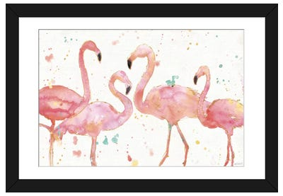 Flamingo Fever I Framed Art Print