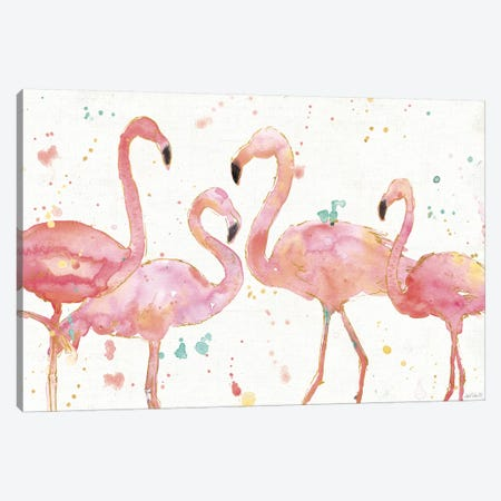 Flamingo Fever I Canvas Print #WAC3795} by Anne Tavoletti Canvas Art Print