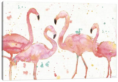 Flamingo Fever I Canvas Art Print
