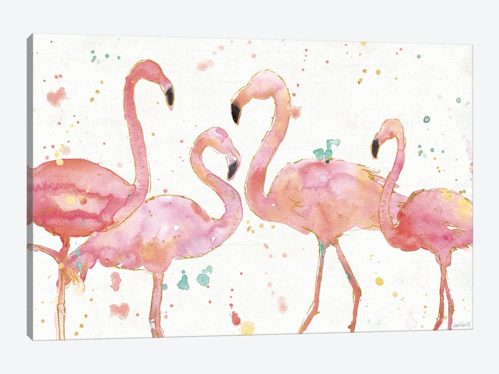 Flamingo Fever I by Anne Tavoletti 1-piece Canvas Print