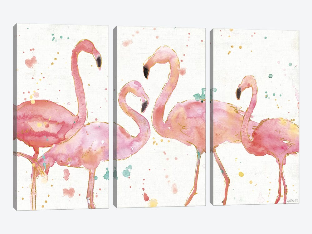 Flamingo Fever I 3-piece Art Print