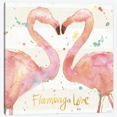 Flamingo Fever II Canvas Print #WAC3796} by Anne Tavoletti Art Print