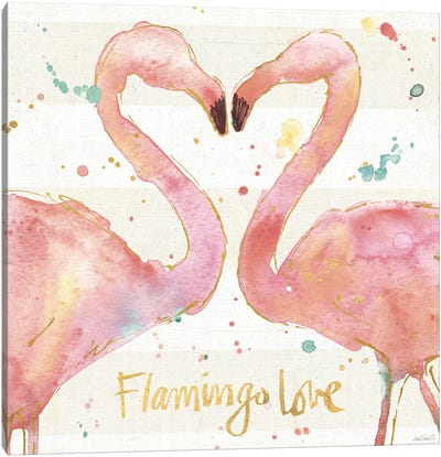 Flamingo Fever II Canvas Art Print