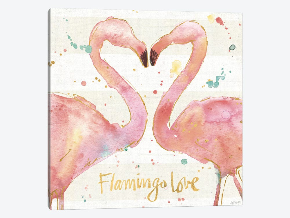 Flamingo Fever II by Anne Tavoletti 1-piece Canvas Art