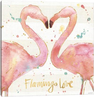 Flamingo Fever II Canvas Art Print