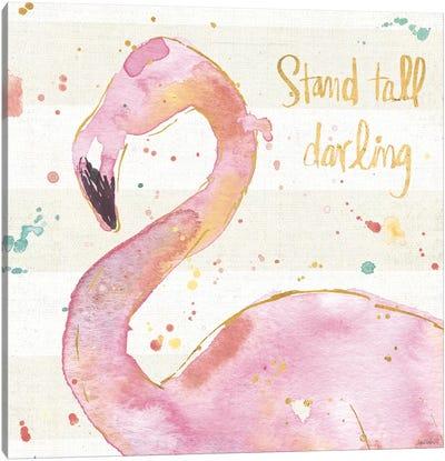 Flamingo Fever III Canvas Art Print