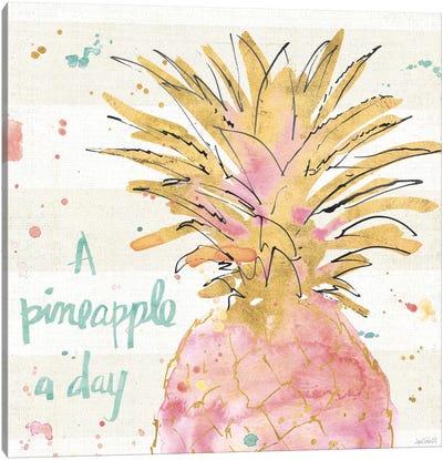 Flamingo Fever V Canvas Art Print
