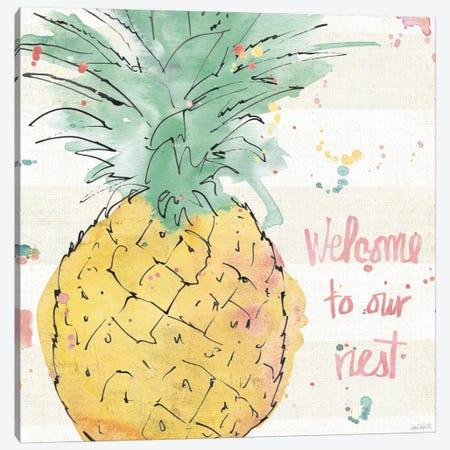 Flamingo Fever VI Canvas Print #WAC3800} by Anne Tavoletti Canvas Artwork