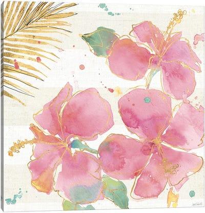 Flamingo Fever VII Canvas Art Print